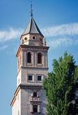 Church tower in Alhambra, Granada/ Spain — 图库照片
