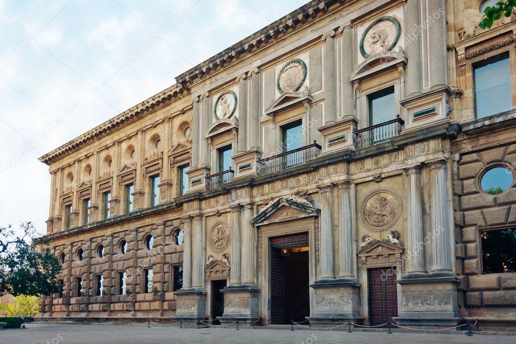 Palace of Charles V in Alhambra, Granada / Spain — Stock Photo © plrang #5703246