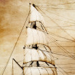 Stock Photo: Sails on old paper