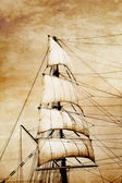 Sails on old paper — Stock Photo