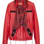 Stylish women's leather jacket is isolated on a white background — Stock Photo #5416917