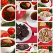 Stock Photo: Mouth-watering home cooking, collage. Ready meals