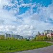 Urban landscape with a beautiful sky, Moscow — Stock Photo