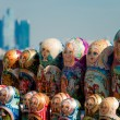 Russian national souvenir - matryoshka - Stock Photo