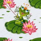 Frog princess — Stock Vector