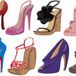 High heels - Image vectorielle