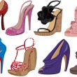 High heels — Stock Vector #6063529
