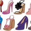 High heels — Stock Vector