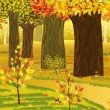 Dream autumn forest - Vettoriali Stock