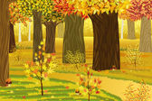 Dream autumn forest — Stock Vector