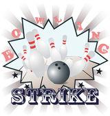 Bowling, vector illustration — Stock Vector