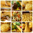 Collage with Raw pasta — Stock Photo