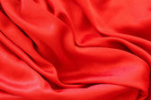 Smooth elegant red silk can use as background — Stock Photo