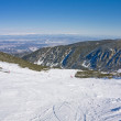 Alpine ski slope at winter Bulgaria — Stock Photo
