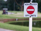 Golf course sign — Stock Photo