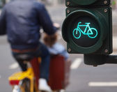 Traffic light bike sign — Stock Photo