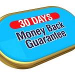 30 dagar pengarna tillbaka — Stockfoto