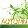 Abstract autumn background for banner — Stock Vector