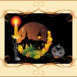 Halloween. Holiday composition for card — Stock Vector