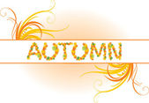 Abstract autumn banner — Stock Vector