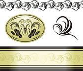 Decorative retro elements for decor — Stock Vector