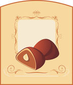 Chocolate candies. Wrapping — Stockvector