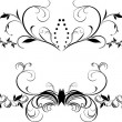 Two decorative floral borders for design — Stock Vector