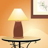 Reading lamp. Fragment of interior — Stock Vector