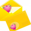 Two yellow envelopes to the Valentines day — Stock Vector #5910488