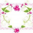 Floral heart in the frame — Stock Vector #5910507