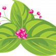 Pink flowers. Spring bouquet — Stock Vector
