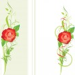 Decorative borders with red rose — Stock Vector