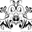 Decorative black border isolated on the white - Imagen vectorial