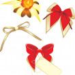 Collection of bows isolated on the white — Vector de stock