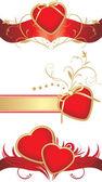 Coeurs rouges pour la conception, à la saint valentin — Vecteur
