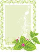 Decorative frame. Spring bouquet — Stock Vector