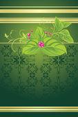 Bouquet de printemps sur le fond décoratif — Vecteur