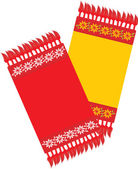 Two kitchen decorative serviettes — Stockvector