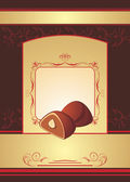 Chocolate truffle. Background for wrapping — Vector de stock