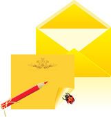 Letter and open envelope — Stock Vector