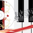 Piano keys and compact disk - Image vectorielle