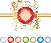 Collection of jewels — Stock Vector