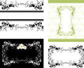Vier decoratieve frames voor ontwerp — Stockvector