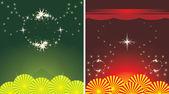 2 つの休日の装飾的な背景 — ストックベクタ