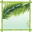 Bamboo frame with palm branches — Stock Vector
