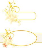 Frames with lilies and floral ornament — Stock Vector