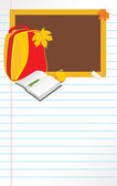 Regreso a la escuela. página de cuaderno — Vector de stock