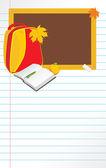 Zpátky do školy. stránka poznámkového bloku — Stock vektor