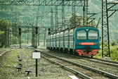 Electric train — Stock Photo