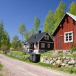 Idyllic Swedish countryside — Stock Photo